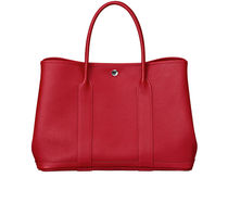 HERMES Garden Party Garden Party 36 negonda leather in rouge piment tote bag