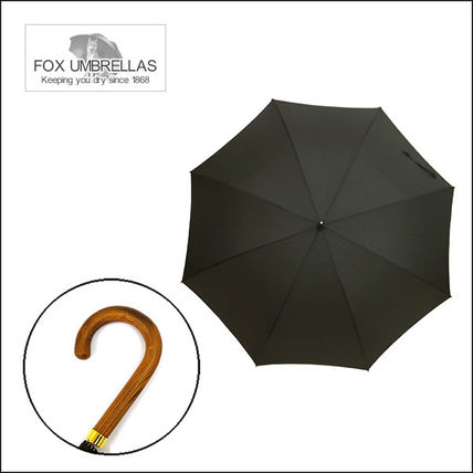 Fox umbrella long umbrella GM1 HANDLE LIGHT BROWN