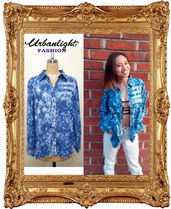 Denim Street Style Long Sleeves Shirts & Blouses