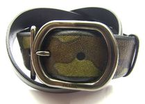 PRADA SAFFIANO LUX Camouflage Street Style Leather Belts