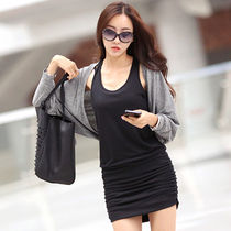 Crew Neck Short Tight Sleeveless Plain Elegant Style Dresses