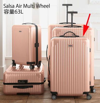 Rimowa ultra-light USA limited edition Pink Pearl roses 63L