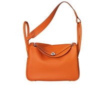 HERMES Lindy Lindy 34 taurillon clemence leather in orage handbag