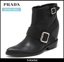 Jeffrey Campbell Wedge Street Style Plain Leather Wedge Boots