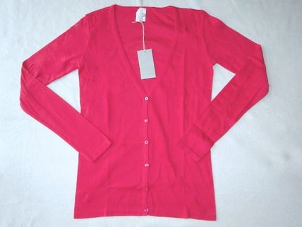 Long Sleeves Plain Cotton Cardigans