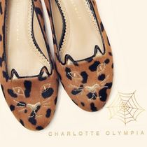 Charlotte Olympia Leopard Patterns Platform Lace-Up Shoes