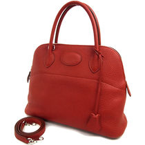 HERMES Bolide Rouge (Red)/SHW Taurillon Clemence 31 Bag