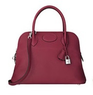 HERMES Bolide Rubis Purple/SHW Taurillon Clemence 31 Bag