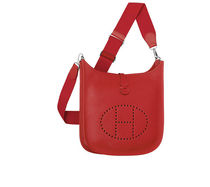 HERMES Evelyne Rouge casaque evelyne III PM leather shoulder bag
