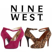 Nine West Leopard Patterns Suede Plain Pin Heels Ankle & Booties Boots
