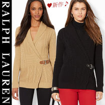 Ralph Lauren Cable Knit Long Sleeves Plain Cotton Medium Knitwear