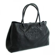 CHROME HEARTS SCROLL Unisex Leather Totes