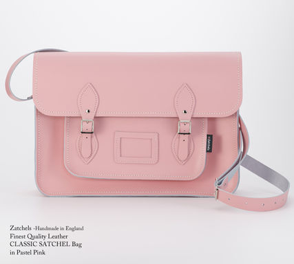 Street Style Plain Leather Shoulder Bags