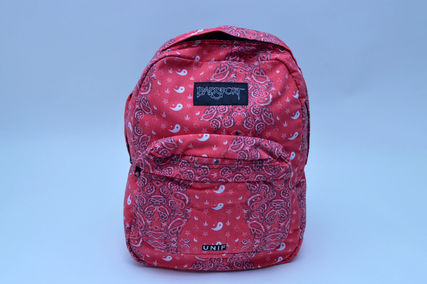 Paisley Casual Style Canvas Backpacks