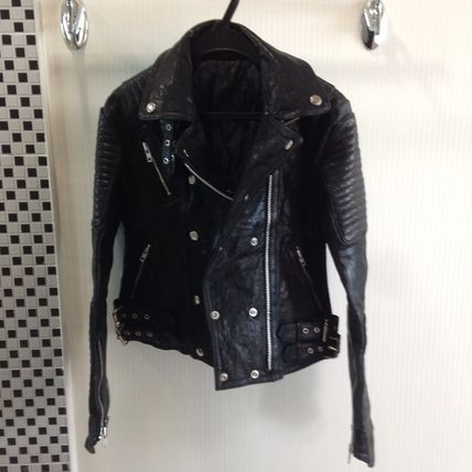 Casual Style Street Style Leather Biker Jackets