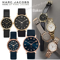 Marc by Marc Jacobs Unisex Leather Round Analog Watches