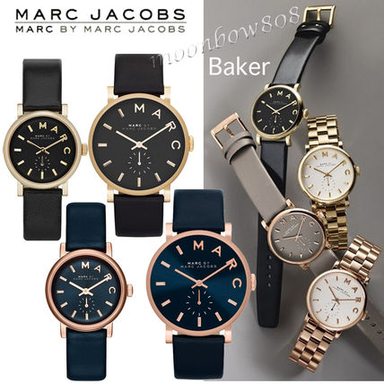 Marc by Marc Jacobs Unisex Leather Round Marc Jacobs Watches Analog Watches
