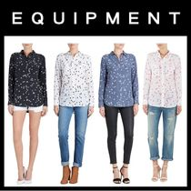 Equipment Star Silk Long Sleeves Shirts & Blouses
