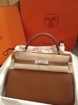 HERMES Kelly Goldl/SHW Togo Leather 32 Bag