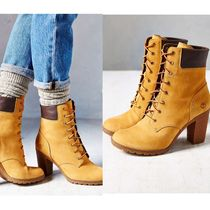 Timberland Lace-up Leather Block Heels Lace-up Boots