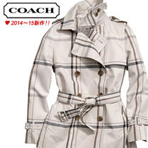Coach CLASSIC Short Tartan Other Check Patterns Peacoats