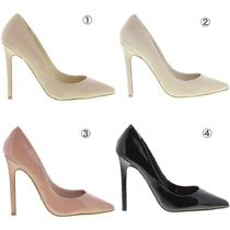Tony Bianco Plain Leather Pin Heels Pointed Toe Pumps & Mules