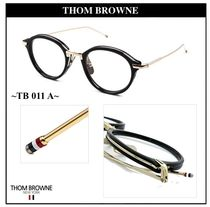 THOM BROWNE Unisex Round Optical Eyewear