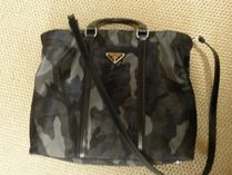 PRADA CANAPA Camouflage Unisex Nylon A4 2WAY Business & Briefcases