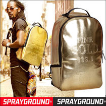 Sprayground Faux Fur Street Style A4 Plain Backpacks