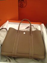 HERMES Garden Party Etope/SHW Negonda Leather 30 Small Bag