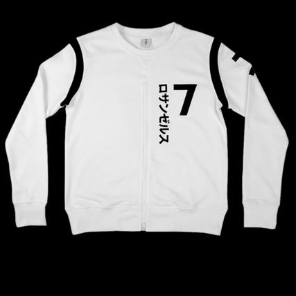 Crew Neck Star Street Style Long Sleeves Sweatshirts