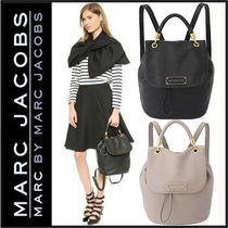 Marc by Marc Jacobs Street Style A4 2WAY Plain Leather Backpacks