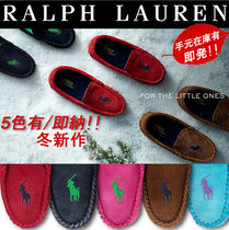 Ralph Lauren Platform Moccasin Suede Plain Lace-Up Shoes