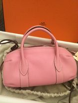 HERMES Hermes Pink/SHW Swift Leather Polochon Bag