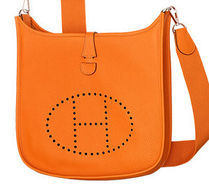 HERMES Evelyne Orange/SHW Taurillon Clemence III 29 Medium Bag