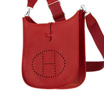 HERMES Evelyne Red/PHW Taurillon Clemence III 29 Medium Bag