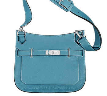 HERMES Totes Blue Jean/SHW Taurillon Clemence 31 Medium Bag