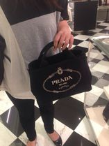 PRADA CANAPA 2WAY Plain Special Edition Handbags