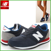 New Balance 420 Round Toe Suede Street Style Low-Top Sneakers