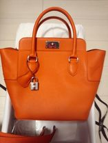 HERMES Toolbox Orange/SHW Evercolor Leather 20 Bag