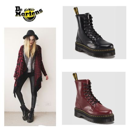 Dr Martens Leather Mid Heel Boots