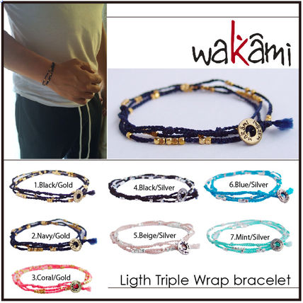 Wakami light triple wrap bracelet