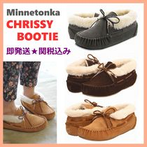Minnetonka Other Check Patterns Round Toe Casual Style Suede