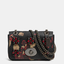 Coach Flower Patterns 2WAY Chain Leather Shoulder Bags