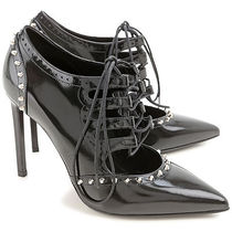 Saint Laurent Studded Leather Pin Heels Pointed Toe Pumps & Mules