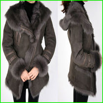 Fur Fur Leather Jackets Elegant Style Coats