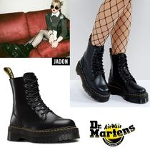 Dr Martens Round Toe Lace-up Street Style Plain Lace-up Boots