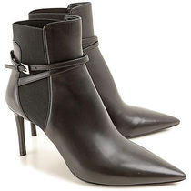 PRADA Leather Pin Heels Ankle & Booties Boots