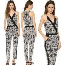 DIANE von FURSTENBERG Silk Sleeveless V-Neck Long Party Style Jumpsuits & Rompers