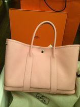 HERMES Garden Party Rose Sakura/SHW Country Leather 30 Small Bag